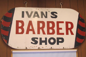 Ivan's Barber Shop in the Old Main Building